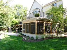 Screened porch or elevated deck? Why not have both! The opportunity for a custom elevated deck with a screened porch is a special one because of the flexibility for extending outdoor living it provides.
