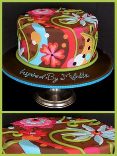 Inspired by Michelle Cake Designs colourful signature cake.
