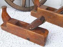 alter shabby chic Hobel a. Holz Schreiner Werkzeug