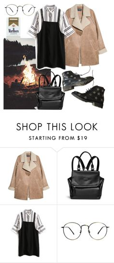 """🚬"" by lucielux ❤ liked on Polyvore featuring MANGO, Givenchy, Yves Saint Laurent, GetTheLook and coat"