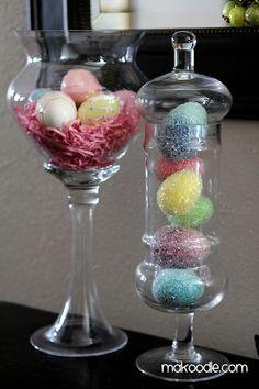 Easter Egg Apothecary Jar Decor