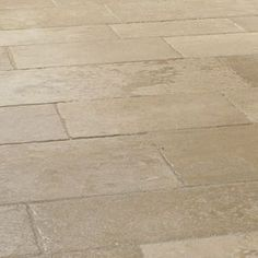 Distressed Bourgogne Clair Flagstones - a beautiful aged french limestone floor. This stone has aged edges and a textured surface Limestone Flooring, Natural Stone Flooring, Paving Slabs, Paving Stones, French Country House, Country Homes, Flagstone, Stone Tiles, Cool Rooms