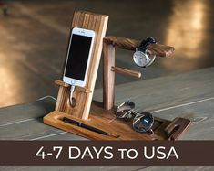 Charging Station Personalized Men Gift Anniversary Gifts for Men Watch charging station Personalized docking station Wooden apple watch - Office Phone Stand - Iphone stands for office - - Charging Station Organizer, Docking Station, Key Organizer, Wooden Watch Box, Wood Watch, Iphone S6 Plus, Wood Phone Holder, Iphone Holder, Iphone Stand