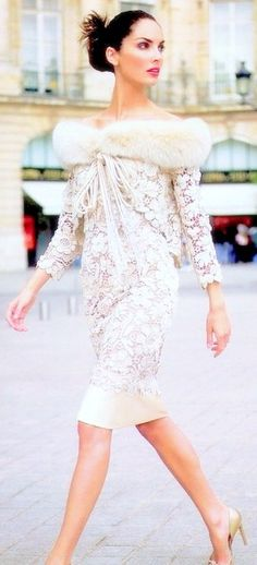 Nothing old lady about this lace dress