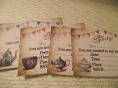 Tea Party Wedding Wis/Bridle ,Invitation Personalized
