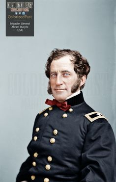Brigadier General Abram Duryée (USA) Abram Duryée was born in New York City on 29 April 1815 to a family of soldiers of French Huguenot ancestry. American History Lessons, Us History, History Education, Teaching History, Colorized History, Battle Of Antietam, Civil War Books, Air Fighter, Man Of War
