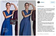 La actriz Inma Cuesta denunció públicamente el retoque que había sufrido su silueta en una foto que fue portada del dominical de El Periódico, lo raro es que se reconociese a sí misma.