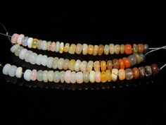Ethiopian Opal Smooth Beads Size 3x4.mm Approx New by SRBEADS