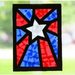 Stained Glass Paper Stars If you love stained glass windows, these easy paper crafts for kids are perfect for you. Stained Glass Paper Stars are just as colorful as real stained glass! July Crafts, Summer Crafts, Summer Art, Memorial Day, Sea Glass Art, Stained Glass, Patriotic Hats, Paper Stars, Paper Crafts For Kids