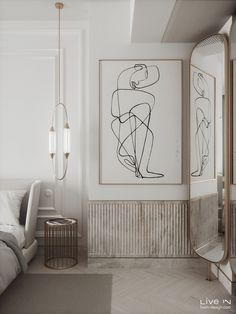 'Stoned in Love' Apartment — Live IN Bedroom Closet Design, Home Room Design, Interior Design Living Room, Modern Classic Bedroom, Modern Classic Interior, Luxury Interior Design, Interior Design Inspiration, Stone In Love, Architecture Restaurant
