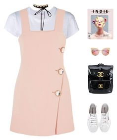 """""""Penelope //"""" by prayingtosaintlaurent ❤ liked on Polyvore featuring RE/DONE, Marni, Superga, Chanel and Fendi"""