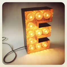 Marquee letter lamp