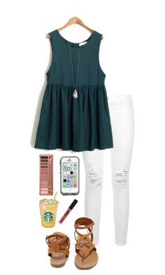 """BTS"" by shelbycooper ❤ liked on Polyvore featuring 7 For All Mankind, Breckelle's, Kendra Scott, LifeProof, Urban Decay and NYX"