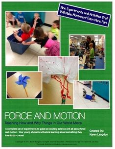 Force and Motion Science Unit for Early Elementary. I will have to keep some of these ideas in mind if I ever have to teach a Force and Motion Unit again! First Grade Science, Primary Science, Kindergarten Science, Elementary Science, Physical Science, Teaching Science, Science For Kids, Science Activities, Science Projects