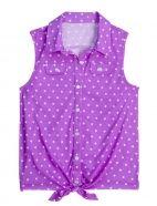sleeveless polka dot knit shirt | shopjustice.com | $29.90