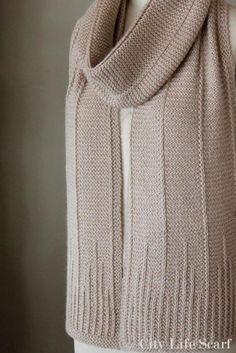 City Life Scarf Knitting pattern by Monika Anna # knit crochet scarf patterns City Life Scarf Knitting pattern by Monika Anna Knitting Stitches, Knitting Patterns Free, Knit Patterns, Free Knitting, Free Pattern, Pattern Ideas, Knit Scarves Patterns Free, Simple Knitting, Finger Knitting