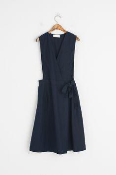Olive - V Neck Midi Length Wrap Style Dress, Navy, £59.00 (https://www.oliveclothing.com/p-oliveunique-20170329-027-navy-v-neck-midi-length-wrap-style-dress-navy)