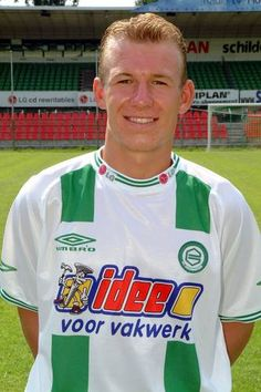 Arjen Robben with his old soccer club: FC Groningen