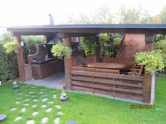 O Patio Churrasqueira . O Patio Churrasqueira . Don T Really Like the Look Decor Of This Patio Itself but Backyard Covered Patios, Covered Patio Design, Hot Tub Backyard, Backyard Gazebo, Backyard Sheds, Nice Backyard, Patio Images, Patio Pictures, Grill Gazebo