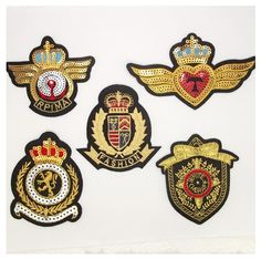5 pcs/lot Fashion crown patch Badge Embroidered Patches For Clothing Iron On Transfers DIY Accessories Garment(China (Mainland)) Diy Patches, Patch Shop, Sequin Patch, Embroidered Badges, How To Iron Clothes, Cloth Flowers, Clothing Patches, Iron On Transfer, Sewing