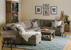 Boston Interiors - Marshall Sectional With Chaise - for the basement Boston Furniture, New Furniture, Boston Interiors, Living At Home, Room Colors, Living Room Decor, Living Rooms, Sectional Sofa, Family Room