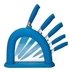 Shop for Funky Kitchen Accessories, Home Decor & Lighting. A colourful collection of modern & retro accessories for your home. Funky Kitchen, Kitchen Fan, Kitchen Tools, Kitchen Dining, Stainless Steel Knife Set, Black Stainless Steel, Knife Block Set, Knife Sets, Blue Kitchen Accessories
