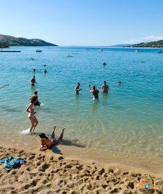 Beach, Stara Novalja, island of Pag, Croatia