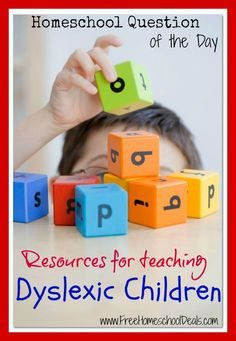 Resources for Teaching Dyslexic Children {Homeschool Question of the Day}