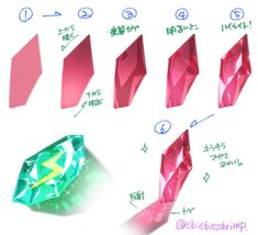 Gems and metal Drawing Techniques, Drawing Tips, Drawing Sketches, Art Drawings, Digital Painting Tutorials, Digital Art Tutorial, Art Tutorials, Art Reference Poses, Drawing Reference