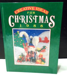 VINTAGE Hardcover Creative Ideas for Christmas 1988 book. 156 full color illustrated pages Included are dozens of handmade ideas from paper crafting, stitchery projects, recipes for holiday meals, delicious food gifts & more!  Book is in GOOD, overall USED CONDITION. NO MARKINGS inside the book and pages are intact; clean. **Front AND back covers have some scratching and shelf wear.  Coming to you from a smoke free environment