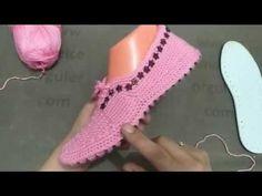 hasır patik modeli yapılışı - YouTube