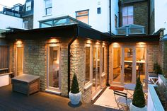 This elegantly designed side and rear extension offers an alternative to the typical rectangular wrap-a-round.
