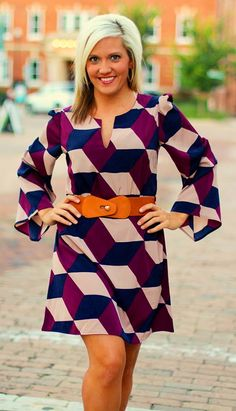 """""""Lauren"""" Dress in plum.  $42.50.  S, M, L.  Belt is included.  Available at 105 West Boutique in Abbeville, SC.  (864) 366-WEST.  Shipping $5."""