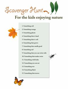scavenger hunt ideas for kids, teens, adults, indoor and outdoor, you must try it