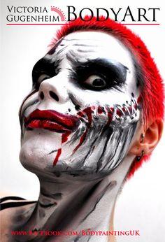 Why so ssssssssserious? Face paint trial for Alice Cooper's Britain's Got Freaks.   www.facebook.com/BodypaintingUK