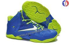 829127b0909840 New Blue Volt Lebron James Shoes 2013 Nike Lebron XI (11) Lebron 11