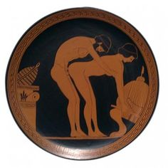 Ancient Greek Plate with Erotic Scene Ancient Greek Art, Ancient Romans, Ancient Greece, Greek Pottery, In Ancient Times, Sex And Love, Gay Art, Erotic Art, Scene