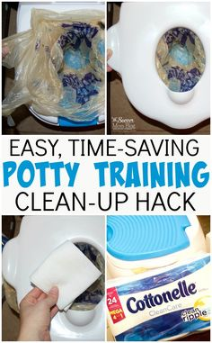 Potty training cleaning has never been easier! This time-saving trick is practically mess-free and keeps your hands clean! Potty Training Rewards, Toddler Potty Training, Training Tips, Potty Training Charts, Training Meme, Training Quotes, Training Schedule, Potty Seat, Potty Chair