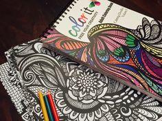 50 Original Doodles To Color - Calming Doodles Volume 1 by ColorIt - Adult Coloring Book -Hardback, Spiral Binding, Blotter, Acid Free Paper