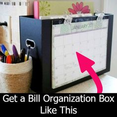 Bill Organizer Printables and bill organization forms. See my monthly bill organization system with my free family bill tracker. Keep track of paying bills the EASY way! Organisation Hacks, Financial Organization, Bedroom Organization Diy, Binder Organization, Home Office Organization, Printable Organization, Office Storage, Organizing Bills, Organization Station