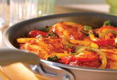 Italian-Style Chicken & Pepper Saute