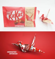 Kit-Kat Japan Swaps Out Plastic Packaging For Paper Origami Wrappers | Dieline