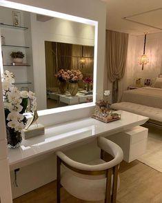 Bedroom Bed Design, Home Room Design, Home Interior Design, House Design, Dressing Room Mirror, Dressing Room Design, Dressing Table, Classic House Exterior, Wardrobe Door Designs