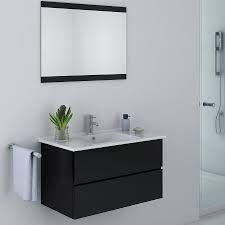 meuble vasque noir ancien - Recherche Google White Wall Bedroom, White Walls, Home Remodeling Diy, Double Vanity, Kitchen Design, Mirror, Furniture, Home Decor, Bathrooms