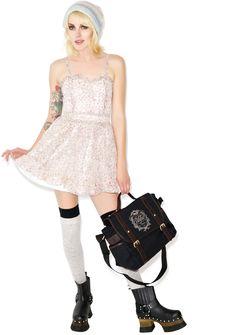 Tripp NYC Sookie Skull Chiffon Dress | Dolls Kill