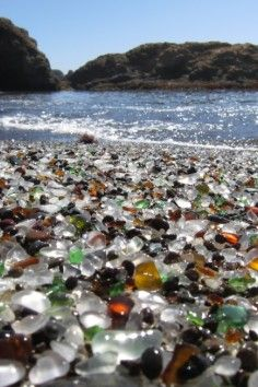 Glass Beach is a beach in MacKerricher State Park near Fort Bragg, California that is abundant in sea glass created from years of dumping garbage.