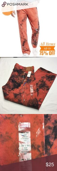 LEVIS PAINT PLATTER DESIGN MENS JEANS 40 X 32 NWT LEVIS PAINT PLATTER DESIGN MENS JEANS 40 X 32 NWT, LOOSE, STRAIGHT FIT YOU WANT TO STAND OUT, YOU WANT TO BE DIFFERENT, YOU WANT TO TURN HEADS.....HERE YOU ARE!! Levi's Jeans Straight