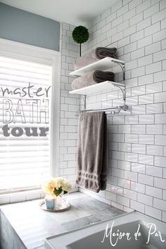 Master Bathroom Tour ~ a classic, chic design for a fairly small bathroom  |  {Maison de Pax}