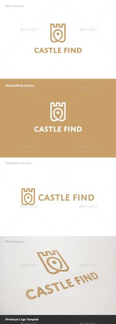 Castle Find Logo - Buildings Logo Templates