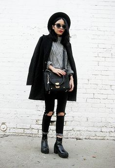 30 Ways to Style a Classic Black Coat   StyleCaster